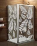 Naklejka mrożone szkło: Palmowe liście