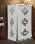 Maskująca naklejka mrożone szkło: Potrójny ornament