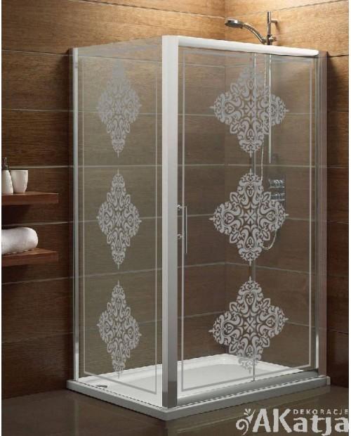 Naklejka mrożone szkło: Potrójny ornament