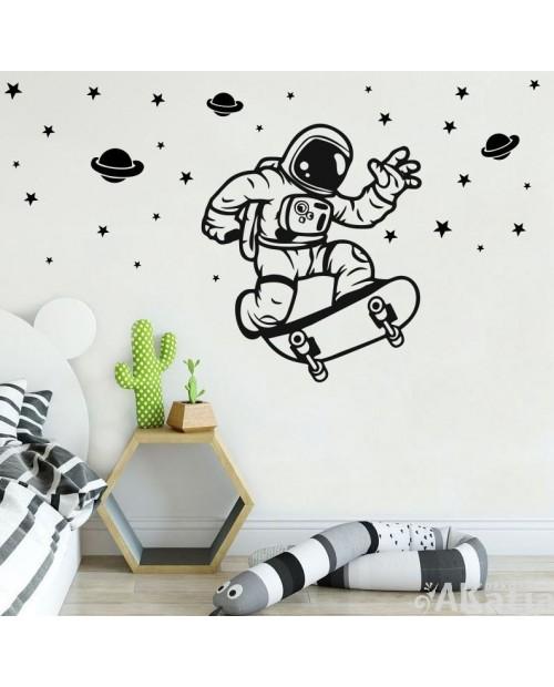 Naklejka postać kosmonauta