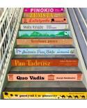 Naklejki na schody - lektury szkolne dla klas 4-8