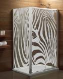 Maskująca naklejka mrożone szkło: Zestaw Zebra