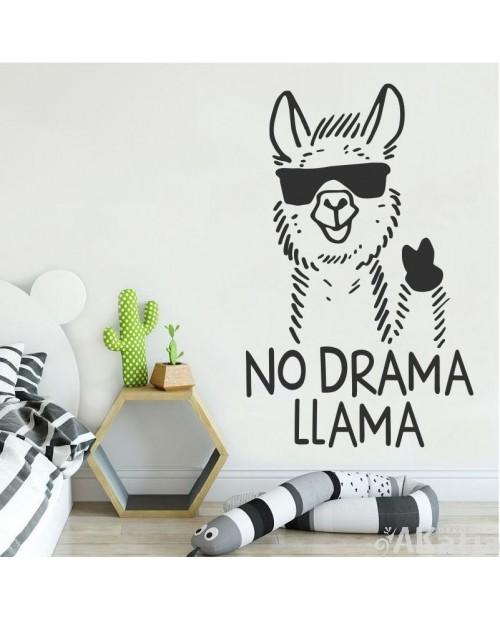 Naklejka z lamą : No drama
