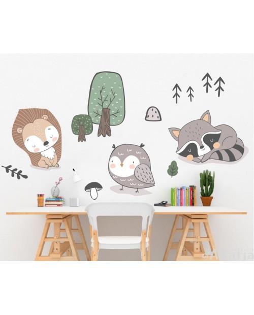 Leśne zwierzątka - zestaw naklejek