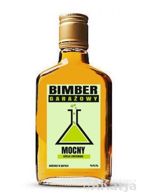 Etykiety na alkohol Bimber Garażowy Mocny