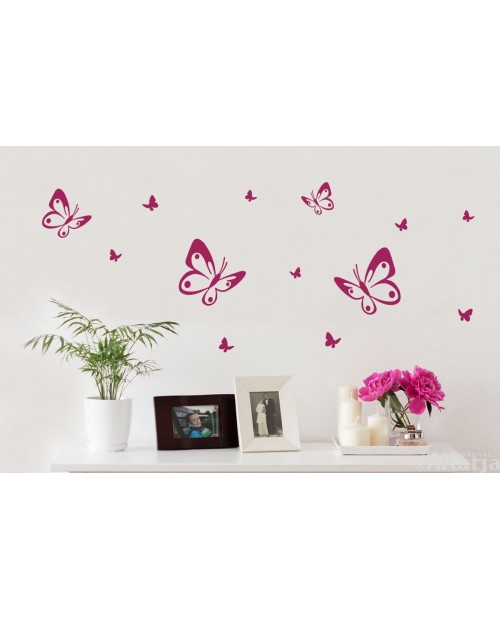 Naklejka Mini Zestaw Motylki