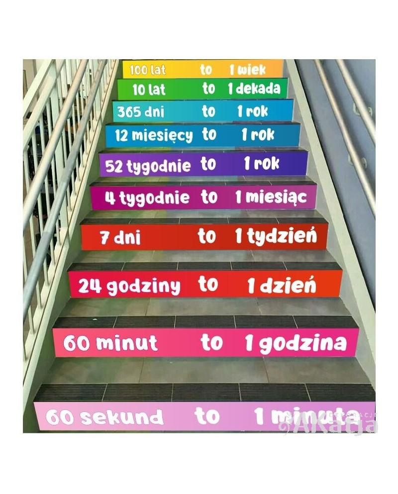 Naklejki na schody - Miary czasu