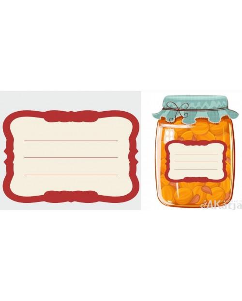 Etykiety bez napisu czerwone proste