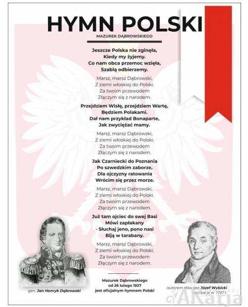 Hymn Polski -plansza z zawieszką