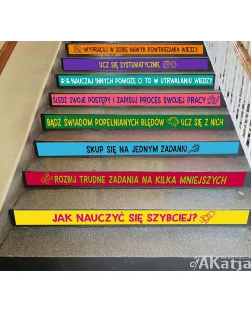 Naklejki na schody: Jak nauczyć się szybciej?