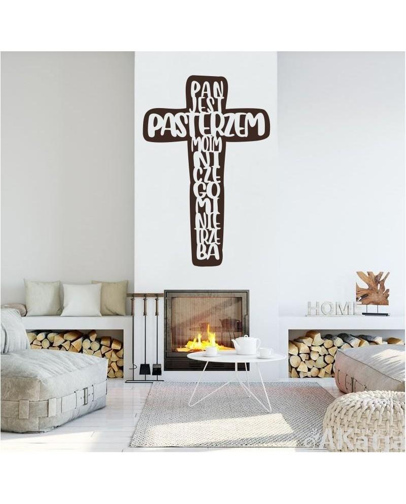 Naklejka na ścianę: Pan jest Pasterzem Moim