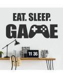 Eat Sleep Game - naklejka młodzieżowa na ścianę