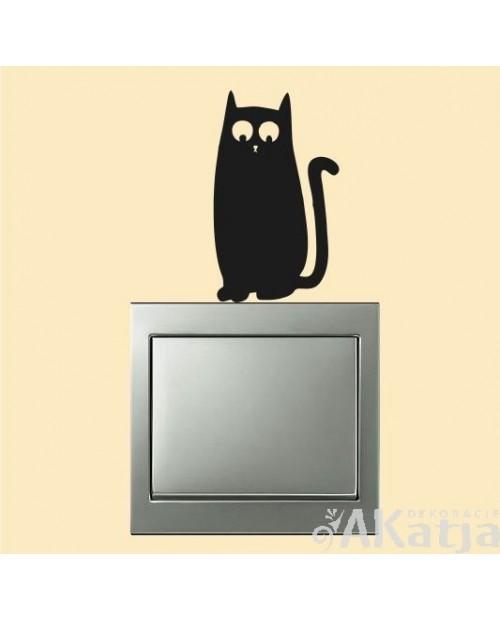 Naklejka na włącznik kotek