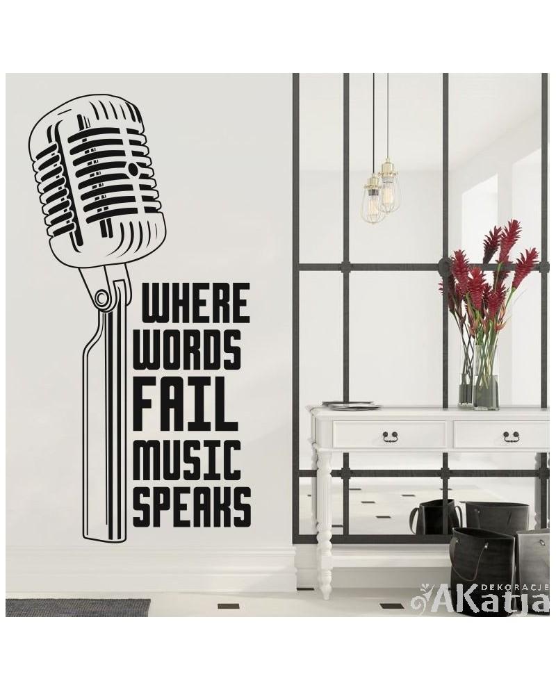 Naklejka Różne Rzeczy Mikrofon