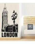 Naklejka Big Ben latarnia i napis London