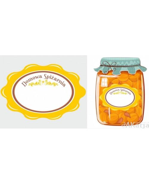 Etykiety na przetwory Domowa Spiżarnia żółte