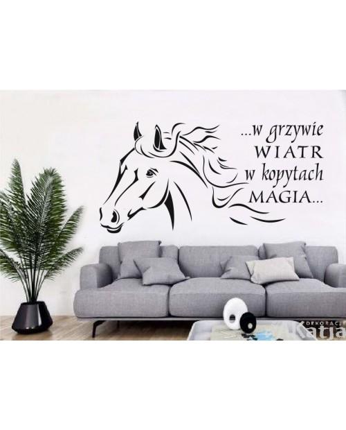 Naklejka Koń W grzywie wiatr