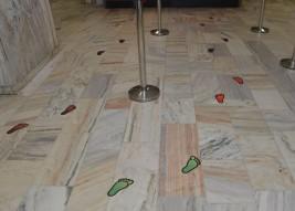 Naklejki na podłogę
